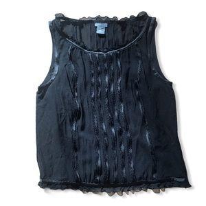 Ann Taylor | Black Sleeveless Blouse - Size 4